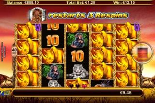 Respin Rhino Slot Stacked Symbols