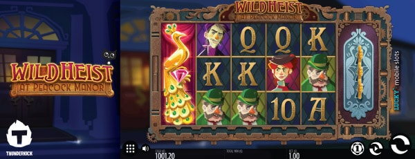 Thunderkick Wild Heist At Peacock Manor Slot Machine