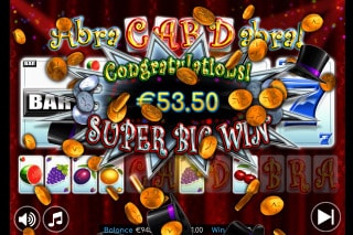 Abracardabra Mobile Slot Bonus Win