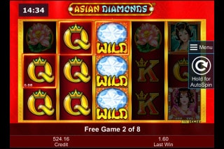 Asian Diamonds Mobile Slot Free Spins