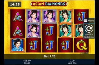 Asian Diamonds Mobile Slot Machine