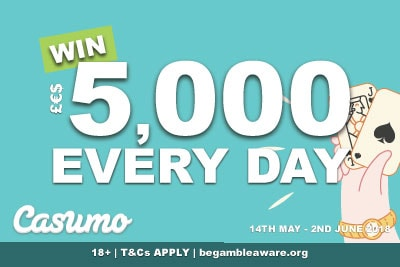 Win 5,000 In Cash Every Day Until 2nd June