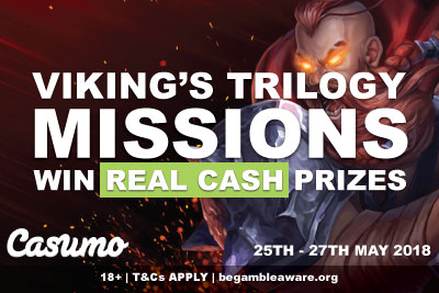 Win Real Cash Prizes In The Casumo Vikings Slots Promo