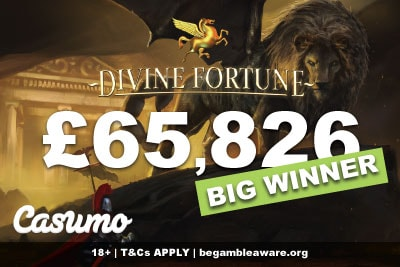 Casumo Casino UK Big Winner On NetEnt Divine Fortune