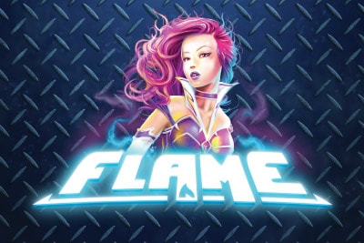 Flame Mobile Slot Logo
