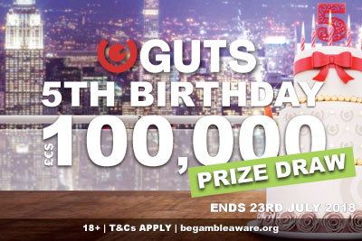 One Lucky Player Will Win 100K At Guts Casino