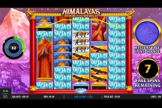 Himalayas Roof of the World Mobile Slot Free Spins