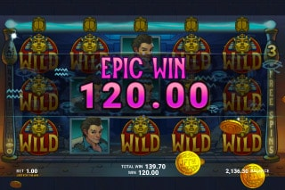 Just For The Win Temple of Tut Slot Win