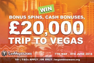 Win A £20K Trip To Vegas In The UK LeoVegas Casino Promo