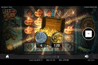 Lost Relics Slot Bonus Win