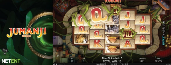 NetEnt Jumanji Desktop Slot Preview
