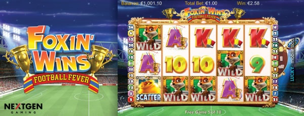 NextGen Foxin Wins Football Fever Slot Machine