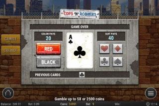Play'N GO Cops N Robbers Slot Gamble Feature