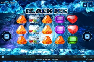 Realistic Black Ice Slot Wilds