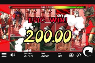 Samurai Ken Slot Free Spins Win