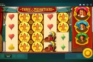 Three Musketeers Mobile Slot Machine