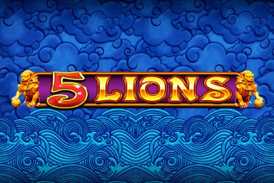 5 Lions Mobile Slot Logo