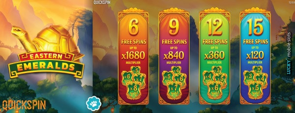 Eastern Emeralds Slot Free Spins Choice