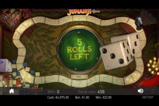 Jumanji Mobile Slot Dice Bonus