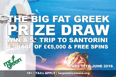 Win A Trip To Greece With Mr Green Mobile Casino