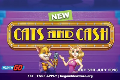 New Play n GO Cats and Cash Mobile Slot Game