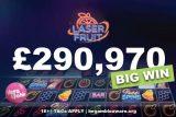 New Vera John Casino Player Wins Huge £290K Cash Prize