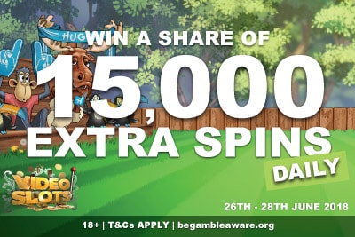 Win A Share of 15,000 Videoslots Casino Spins