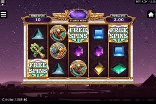 Wild Scarabs Slot Free Spins Bonus Round
