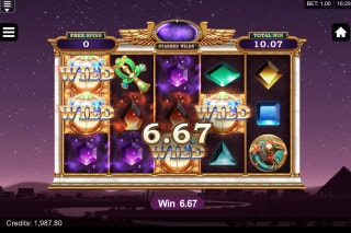 Microgaming Wild Scarabs Mobile Slot Wilds Win