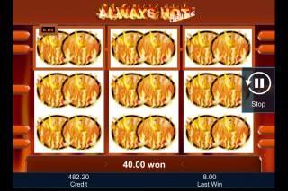 Always Hot Deluxe Mobile Slot Big Win