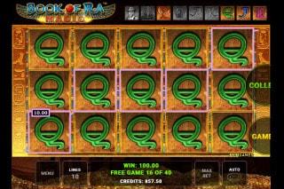 Book of Ra Magic Slot Free Spins Win
