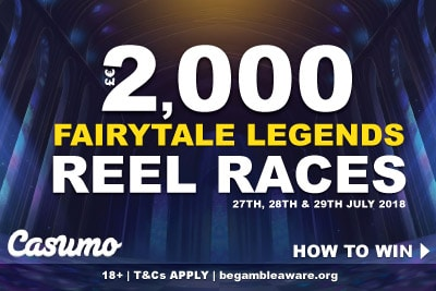 Win Up To 2,000 Cash In The Casumo Fairytale Legends Reel Races