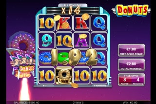 Donuts Mobile Slot Free Spins