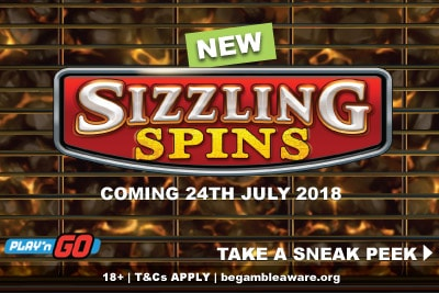New Sizzling Spins Slot Coming July 2018