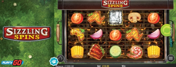 Play'n GO Sizzling Spins Slot Machine