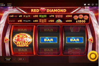 Red Diamond Mobile Slot Wild Respin
