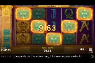 Rise of Egypt Mobile Slot Free Spins Win