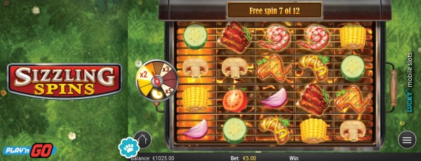 Sizzling Spins Mobile Slot Free Spins Bonus