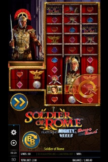Soldier of Rome Mobile Slot Game