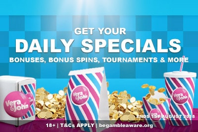 Get Special Bonuses, Play Tournaments & Complete Missions At Vera&John