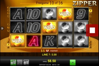 Zipper Mobile Slot Free Spins
