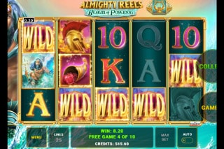 Almighty Reels Realm of Poseidon Mobile Slot Free Spins