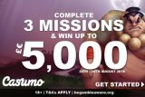 Complete 3 Missions & Win Up To €£5,000 Real Money At Casumo