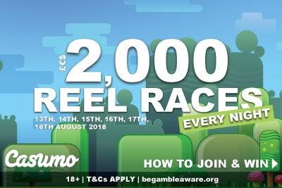 How To Win £€$2,000 Casumo Reel Races This Week