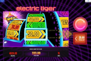 Electric Tiger Mobile Slot Wheel Bonus