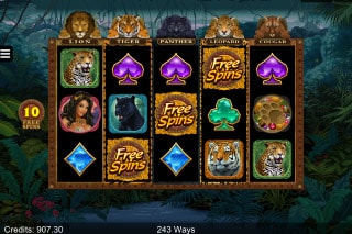 Exotic Cats Mobile Slot Free Spins