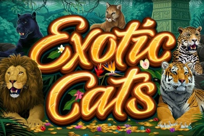 Exotic Cats Mobile Slot Logo
