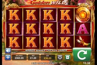 Golden Wild Mobile Slot Stacked Symbols