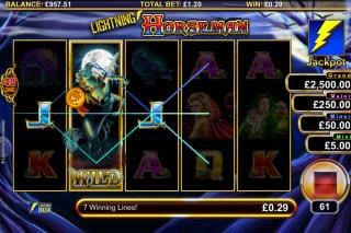Lightning Horseman Slot Wild
