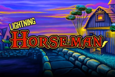 Lightning Horseman Mobile Slot Logo